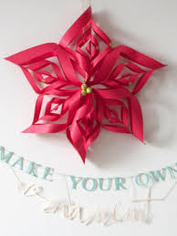 make a paper snowflake ornament hgtv