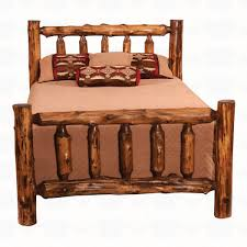 Log Bed Pictures by Fireside Lodge Furniture Cedar Traditional Log Bed Santa Fe Ranch