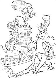 the cat in the hat coloring page thing one coloring pages kids coloring