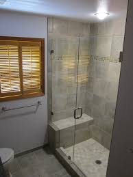 shower stunning walk in shower with seat stone tile walk in