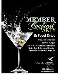 member appreciation cocktail party eagle brook country club