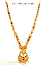gold pendant long necklace images 22k gold 39 2 in 1 39 lakshmi long necklace temple jewellery 235 jpg