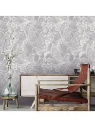 marbled mist removable wallpaper gray