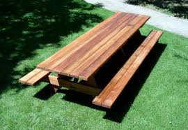 Wooden Picnic Tables With Separate Benches Park Bench Picnic Table 28kp Cnxconsortium Org Outdoor Furniture