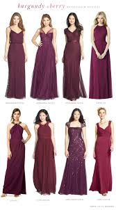 burgundy dress for wedding burgundy mismatched bridesmaid dresses