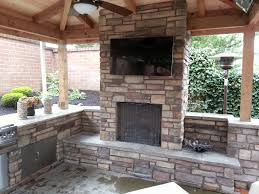 Outdoor Fireplace Chimney Height by Outdoor Fireplace Outdoor Living Outdoor Kitchen Covered Patio