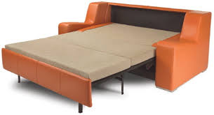 Orange Sofa Bed Gorgeous Leather Sleeper Sofas For Comfy Seating Designoursign