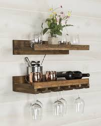 trent austin design bernon rustic wall mounted wine glass rack