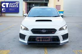 matte teal car ct auto mp front lip for my15 subaru wrx sti v1 matte black ebay