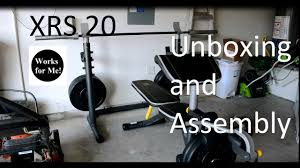 gold u0027s gym xrs 20 weight bench unboxing and assembly youtube