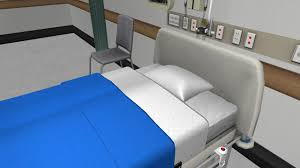 bed making making an unoccupied bed nursesim