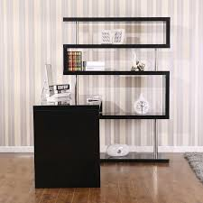 Computer Desk Corner L Shaped Black Acrylic Corner Computer Desk With Shelf And Eased