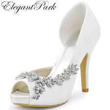 wedding shoes ivory women platform high heels bridal wedding shoes ivory white