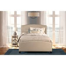 Bedroom Sets With Mattress Included Queen Bed Set With Rails Included And Nail Head Trim By Hillsdale