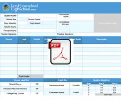 homeschool middle school report card template homeschool high school report card template