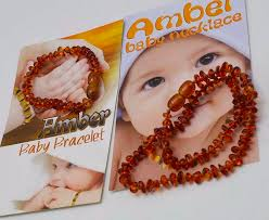 babies teething necklace images Baltic amber baby teething necklace bracelet set cognac amber png