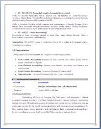 Sample Resume Accounts Payable by 85 Remarkable Samples Of Resume Examples Resumes Excellent Sap Sd