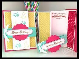 simply simple fancy fold birthday card by connie stewart