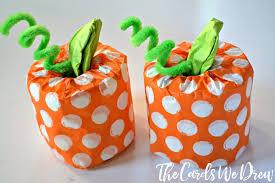 Craft Ideas For Kids Halloween - easy halloween craft for kids toilet paper pumpkins