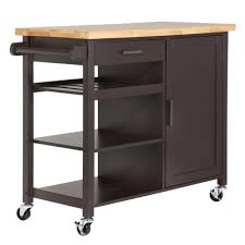 kitchen cart island homegear deluxe kitchen storage cart island w rubberwood cutting