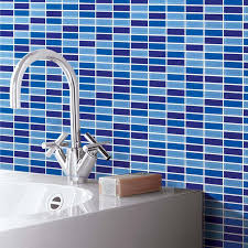 glass tile backsplash pictures inspiration for a ushaped kitchen