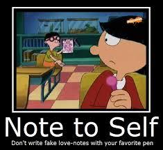 Meme Notes - hey arnold meme fake love notes on bingememe