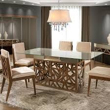 6 Seater Dining Table Design With Glass Top Dream Furniture Teak Wood 6 Seater Luxury Rectangle Glass Top
