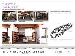 Floor Plan Of A Bank by St Vital Library Renovation Winnipeg Public Library
