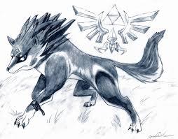 wolf link sketch by seanx666 on deviantart