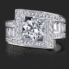 engagement rings with baguettes crossover ribbon style clear baguette and
