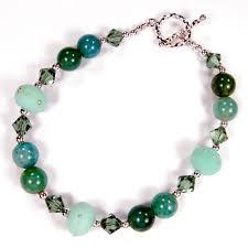 bead bracelet images Lampwork bead bracelet with handmade beads fire agate beads jpg