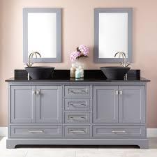 bathrooms design wood double vanity inch top gray sink bathroom