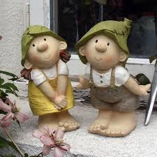 lilly and len elves sitting garden ornament gnome garden