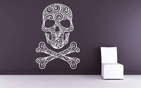 skull decor skull decal skull and crossbones pirate decal