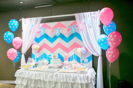 reveal baby shower chevron themed gender reveal baby shower project nursery