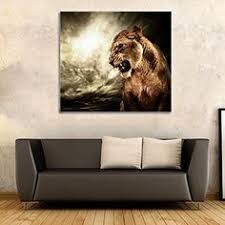 amazon com posters and prints printed animal lion paintings