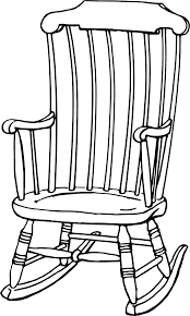 White Rocking Chair Rocking Chair Clipart
