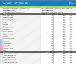home moving packing checklist template microsoft office templates