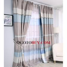 Blue And White Striped Drapes Striped Curtains On Sale Ogotobuy Com