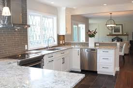 light granite countertops with white cabinets 64 great elegant kitchen backsplash ideas with white cabinets grey