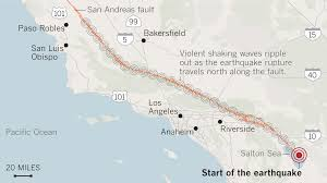 Fault Line Map Signs Of Past California U0027mega Quakes U0027 Show Danger Of The Big One