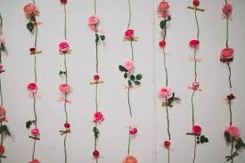 Flowers Decor Diy Fresh Flower Wall For Wedding Decor Weddingomania Weddbook