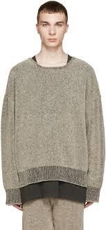 dan howell sweater yeezy season 1 brown bouclé knit sweatshirt trends