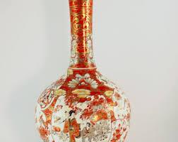 Japanese Kutani Vases Japan Vase Vintage Vase Made In Japan Red Vase Home Decor