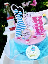 alice in wonderland inspired un birthday tea party diy