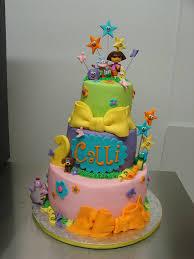 calli u0027s dora explorer birthday cake www littlesugarbakesho u2026 flickr