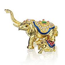 asian elephant ring holder images Yufeng mini figurine trinket boxes ornament crystals jpg