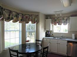 modern kitchen curtains for bay window with round table and chairs