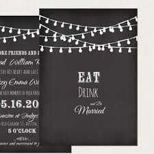 string light chalkboard inspired wedding invitation card deposit