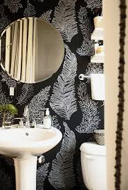 Black And White Wallpaper For Bathrooms - d e s i g n l o v e f e s t black bathrooms are cool